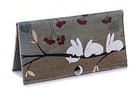 Женский кошелек -Кролики-. Ручная работа