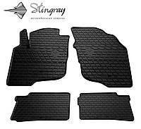 Резиновые коврики Stingray Стингрей Mitsubishi SPACE STAR 1998- Комплект из 4-х ковриков Черный в салон. Доставка по всей Украине. Оплата при