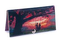 Женский кошелек -Влюбленные на закате-. Ручная работа