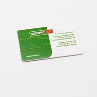 Флешка кредитная карта с логотипом.