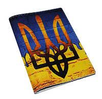 Кожаная обложка для паспорта -Герб Украины-
