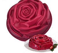 Силіконова форма для десертів Троянда 23 см