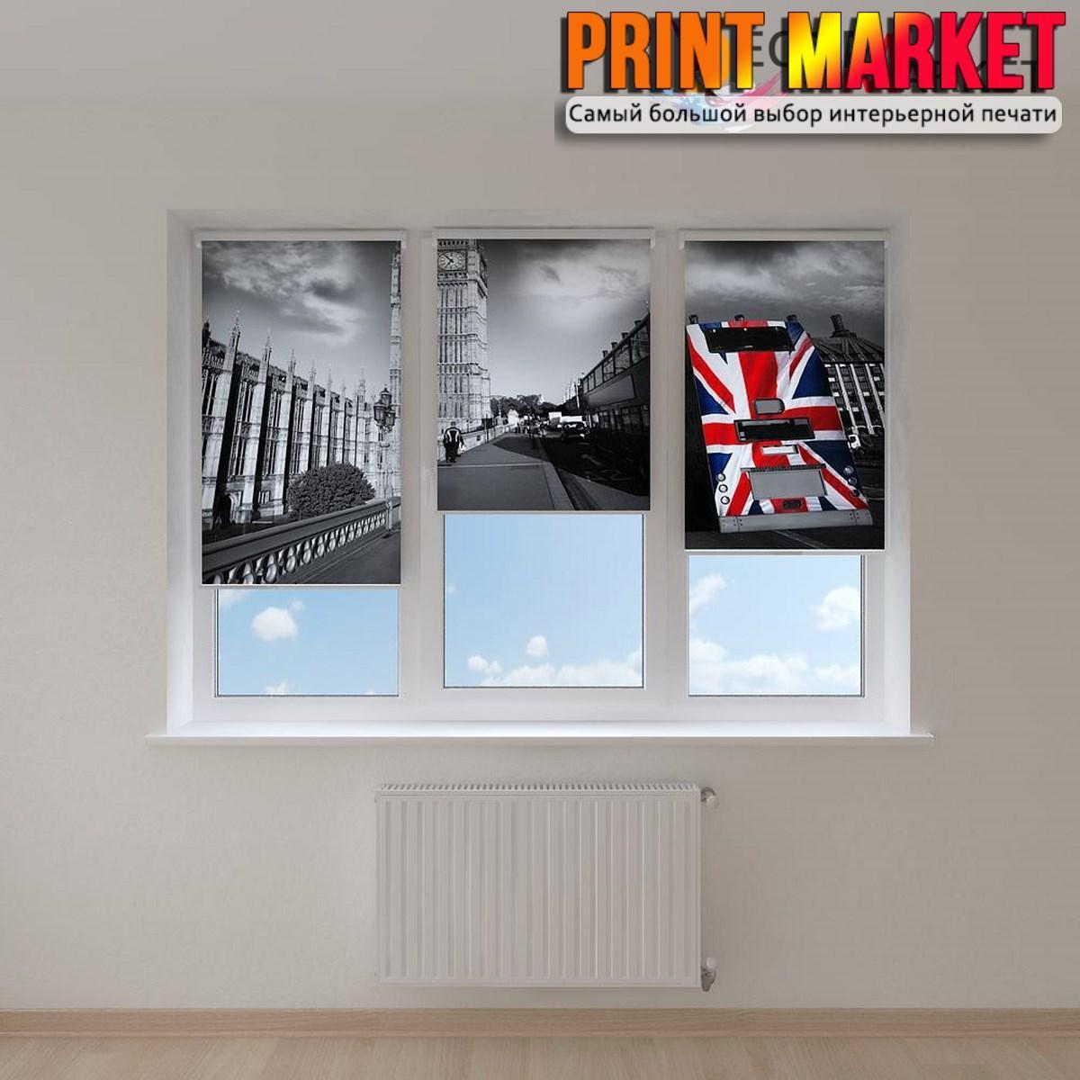 Рулонные шторы с фотопечатью мрачный Лондон