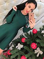 """NEW!!! Молодежное, женское платье осень-зима """"Разноцветные камни, юбка-клеш""""  РАЗНЫЕ ЦВЕТА"""