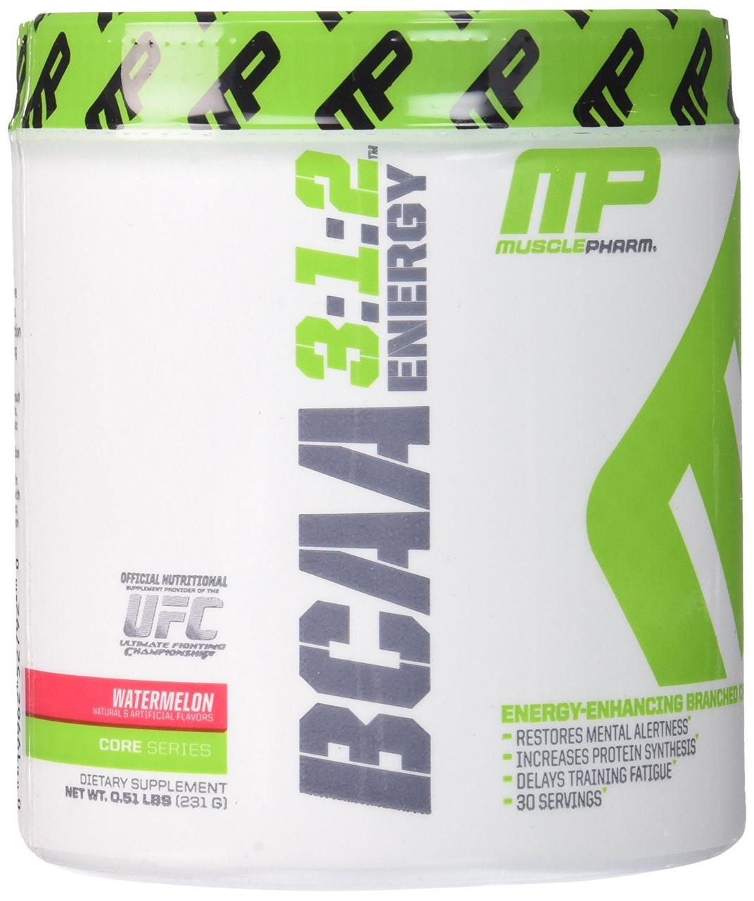 Muscle Pharm BCAA 3:1:2 Energy 30 serv 231 g, Масл Фарм БЦА 3:1:2 Энержи 231 грамм