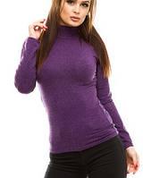 Водолазка (гольф) женский, кашемир, фиолетовый