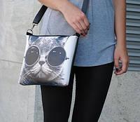 """Женская сумка с принтом """"Крутой кот"""""""