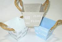 Кашпо декоративное FLORE 11*12 см, голубое
