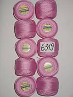 Турецкая пряжа для вязания  YarnArt Canarias (канариус) тонкий ирис 6319 розовый