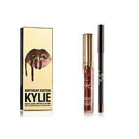 Набор жидкая матовая помада и карандаш для губ Kylie Birthday Edition, фото 1