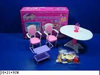 """Мебель """"Jennifer"""" 2832 (36шт) со светом, для столовой, стол, 2 стула..., в кор. 30*21*9см"""