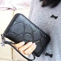 Женский кошелек Pretty на молнии большой черный, фото 1