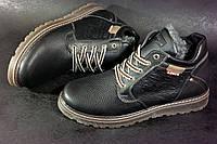 Зимние кожаные мужские ботинки Levis левайс левис , Стильные, крепкие и теплые на молнии в наличии