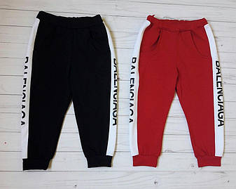 """Детские спортивные штаны """"Balenciaga"""" (унисекс, с вставками по бокам, надпись) РАЗНЫЕ ЦВЕТА!, фото 2"""