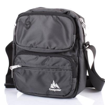 9387ea53c282 Сумка спортивная Onepolar Мужская спортивная сумка ONEPOLAR (ВАНПОЛАР)  W5630-grey - Интернет-