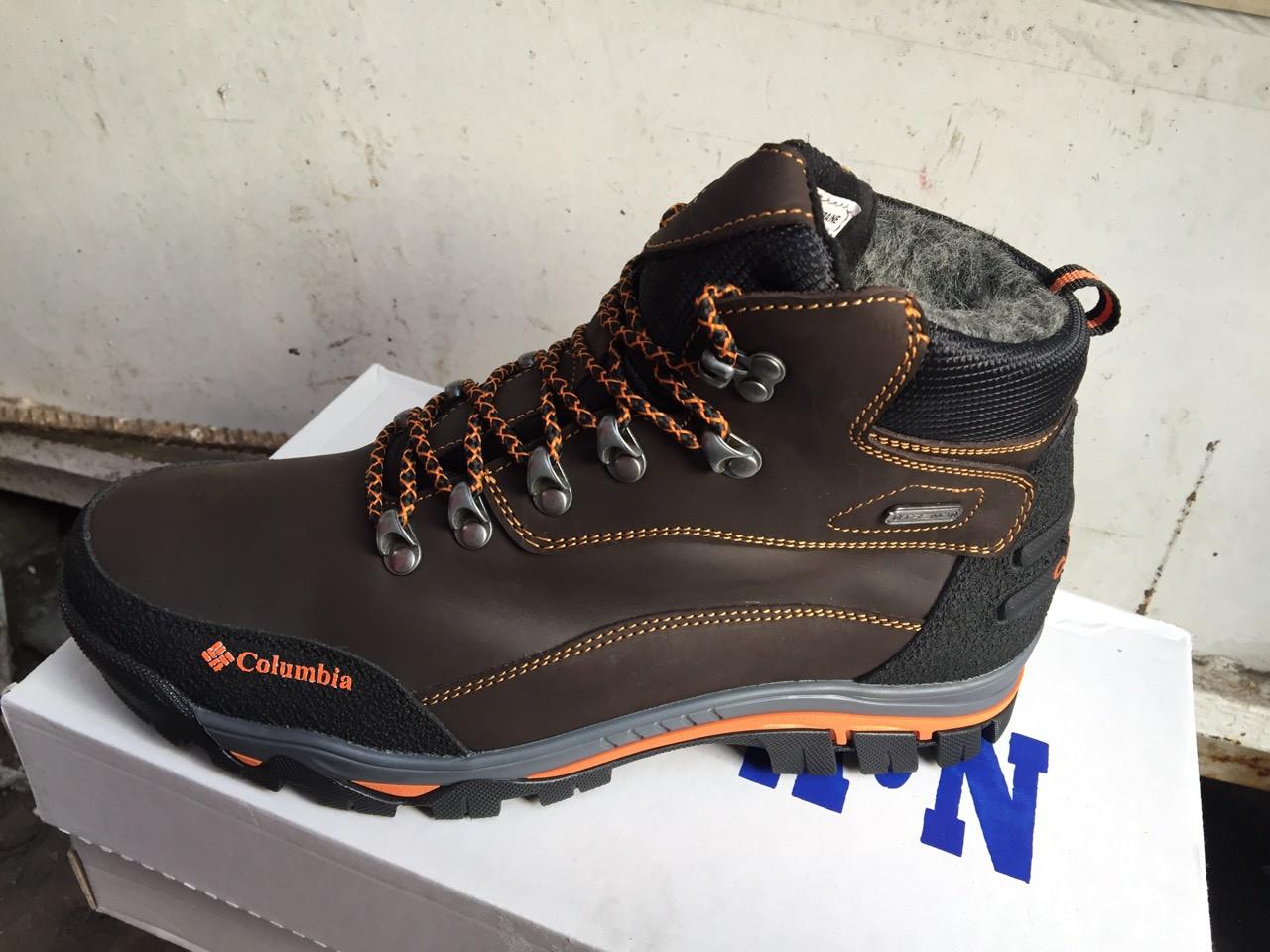 Мужские зимние кожаные ботинки Columbia реплика - Интернет магазин Берцы 78  в Хмельницком 5137e111456
