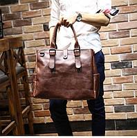 Мужская кожаная сумка. Модель 63205, фото 6