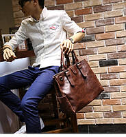 Мужская кожаная сумка. Модель 63205, фото 10