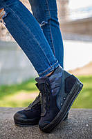 Модные, зимние, женские ботинки на мощной подошве(натуральная кожа, внутри натуральный мех)РАЗНЫЕ ЦВЕТА