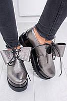 """Оригинальные, женские, кожаные туфли на платформе """"Бант"""" РАЗНЫЕ ЦВЕТА"""