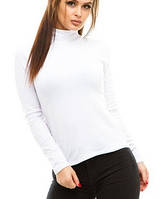 Водолазка (гольф) женский, на флисе, белый