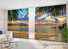 """Фото Шторы в зал """"Далекий океан"""" 2,7м*4,0м (2 полотна по 2,0м), тесьма"""