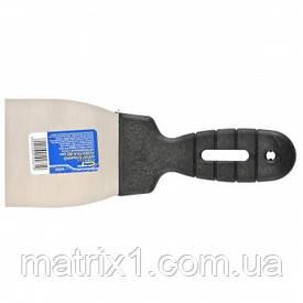 Шпательная лопатка з нержавіючої сталі, 80 мм, пластмасова ручка//СИБРТЕХ