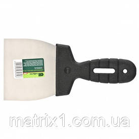 Шпательная лопатка з нержавіючої сталі, 100 мм, пластмасова ручка//СИБРТЕХ
