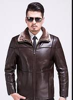 Куртка кожаная зимняя,дубленка с натуральной кожи на овчине.