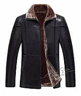Кожаная куртка зимняя,дубленка с натуральной кожи на овчине.