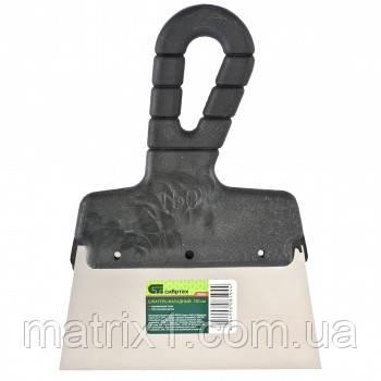 Шпатель фасадный из нержавеющей стали, 150 мм, пластмассовая ручка//СИБРТЕХ