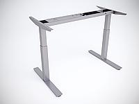 Рама стола Prime регулируемая по высоте для работы сидя-стоя с одним мотором, 2 года (Standart), Вверх/вниз (Standart), Серый