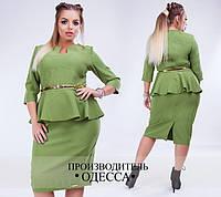 Платье с баской большого размера недорого интернет-магазине Украина Россия Одесса от ТМ Фабрика Моды р. 48-54