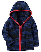 Толстовка на флисе Carters на мальчика 4-8 лет Full-Zip Hooded Fleece Jacket