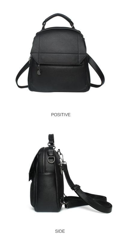 Сумка рюкзак женская матовая с клапаном Nevenka(черная), цена 699 ... b686e593b97