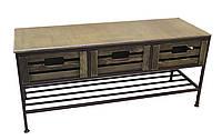 Диван-тумба кованый №13 на 3 ящика и полку