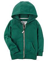 Толстовка на флисе Carters на мальчика 4-8 лет Fleece Zip-Up Hoodie