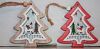 """Новогодние украшения из дерева """"Елка"""""""