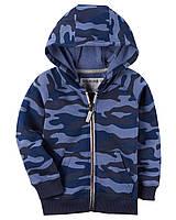 Толстовка на флисе Carters на мальчика 4-8 лет Brushed Fleece Camo Zip-Up Hoodie