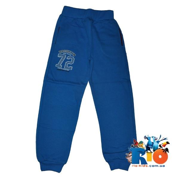 Спортивные штаны, трикотаж на флисе, для мальчика 9-12 лет