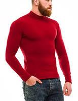 Гольф (водолазка) мужской, теплый, на флисе, бордо