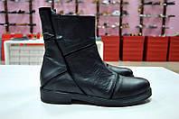 Кожаные ботинки черного цвета Slash к.01, фото 1