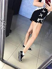Модные, женские, джинсовые шорты, декорированы шнуровкой. Фабричный Китай! РАЗНЫЕ ЦВЕТА, фото 3