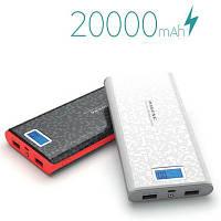 Power Bank Зовнішній акумулятор PINENG 20 000 mAh з дисплеєм заряду P920