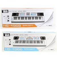 Детский пианино синтезатор HS4966-68B USB, 49 клавиш. Микрофон.