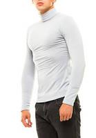 Гольф (водолазка) мужской, теплый, на флисе, серый