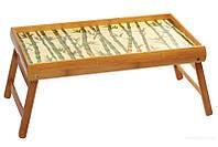 Раскладной столик для завтрака в кровать из бамбука