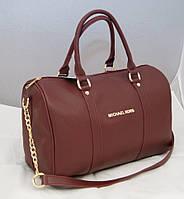 Женская сумка саквояж Michael Kors, бордовая Майкл Корс MK