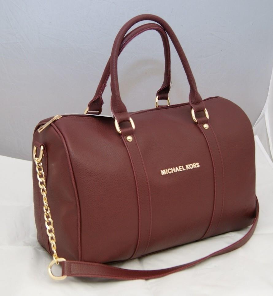 d7ea80b0c03b Женская сумка саквояж Michael Kors, бордовая Майкл Корс MK  продажа ...