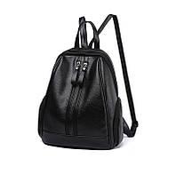 Рюкзак женский с двумя молниями Nevenka (черный)